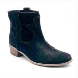 Lucky Brand Terra Black Suede Ankle Boots